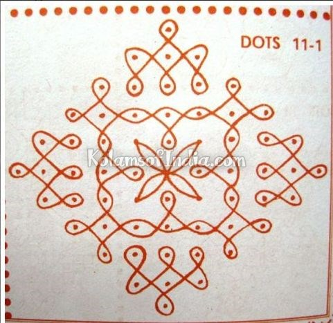 11 Dots Sikku Kolam – Tippudu Muggulu | Kolams of India