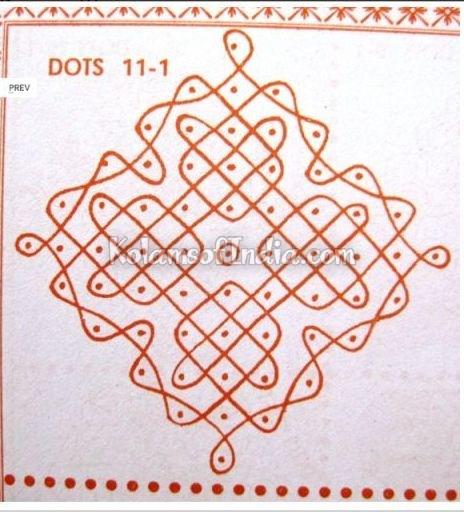 11 Dots Sikku Kolam – Tippudu Muggulu