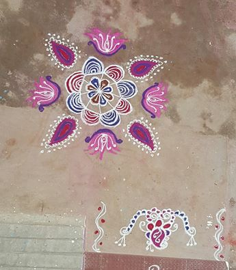Small Rangoli – Apartment Kolams