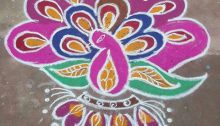 peacock, mayil kolam, colours, rangoli