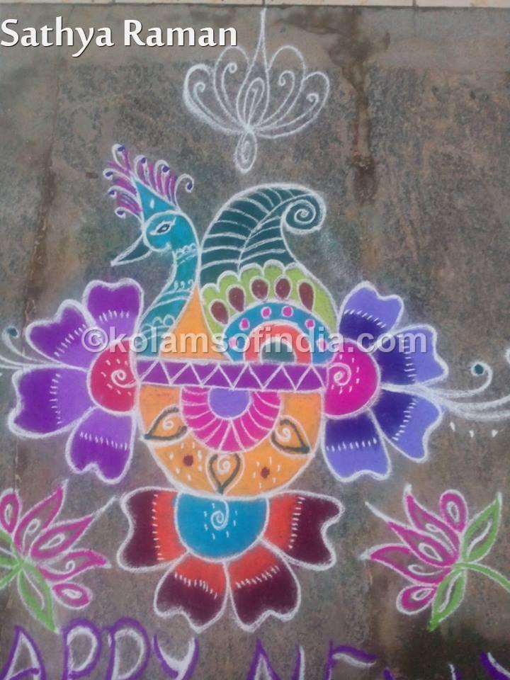 Paisley Kolams, Colour Rangolis, Muggulu