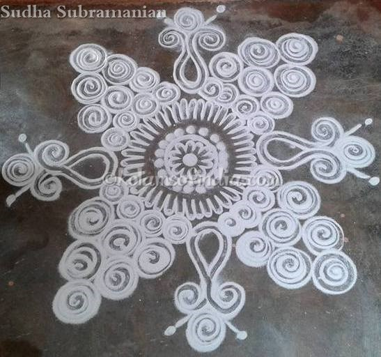 Daily Kolams – Small Rangoli, Apartment Rangoli