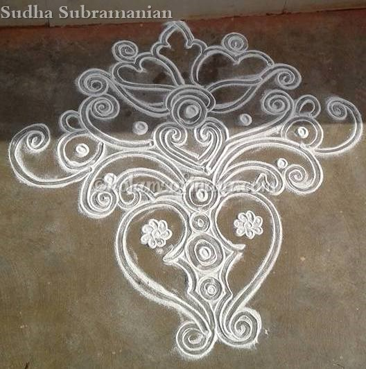 Small Rangolis – Finger Technique Kolams