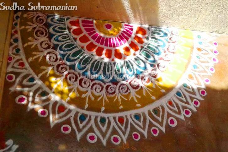 Beautiful Colour Rangoli
