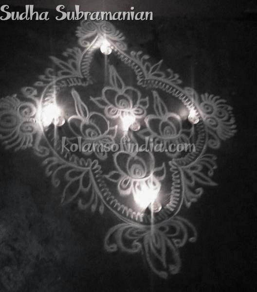Diya, Lamps,Vilakku Kolams