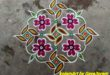 15 Dots for contest    Easy floral kolam friends