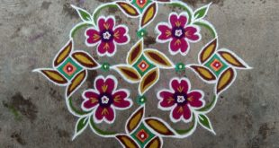 15 Dots for contest || Easy floral kolam friends