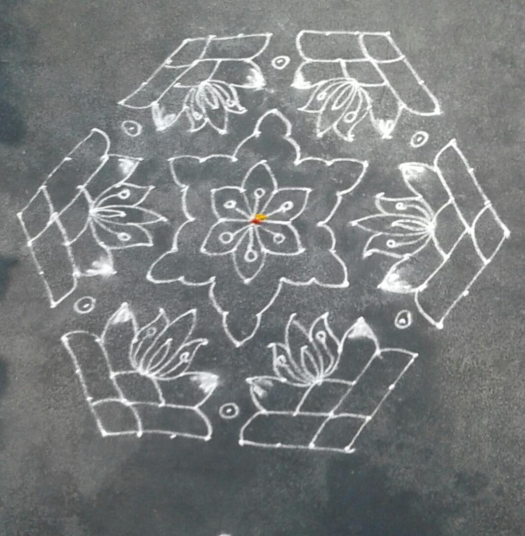 Flower Kolam, poo kolam,