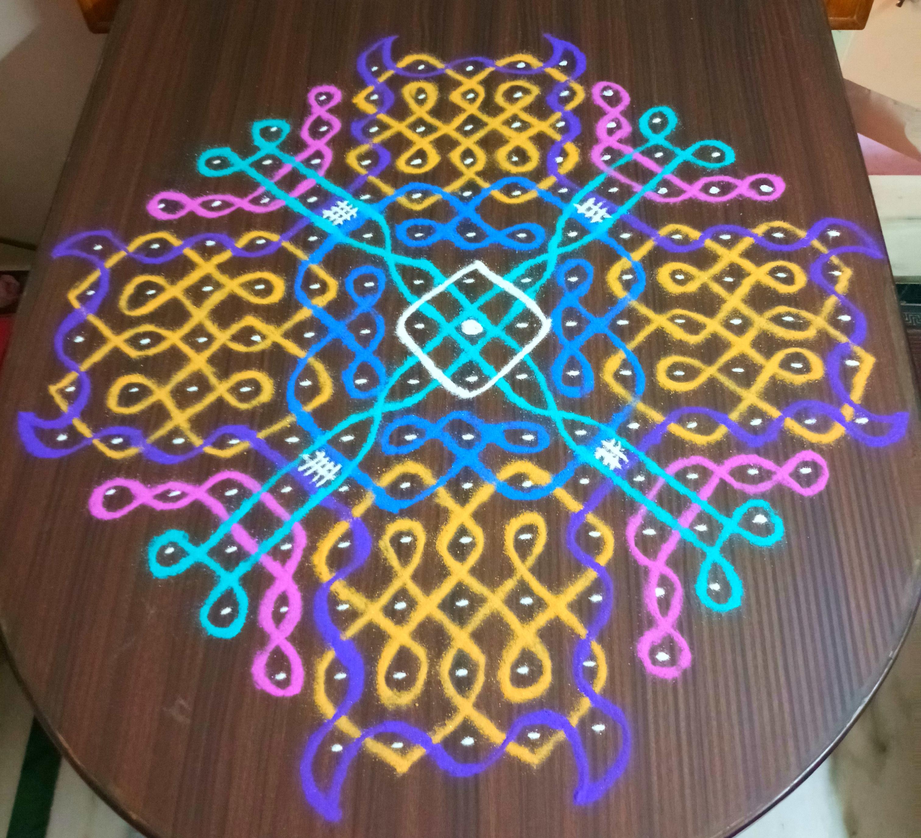 Sikku kolam with 15 dots || Contest Muggulu