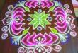 Lotus kolam with 15 dots || contest kolam