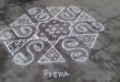 Design kolam with 15 dots || 15-8 Interlaced Dots Kolam