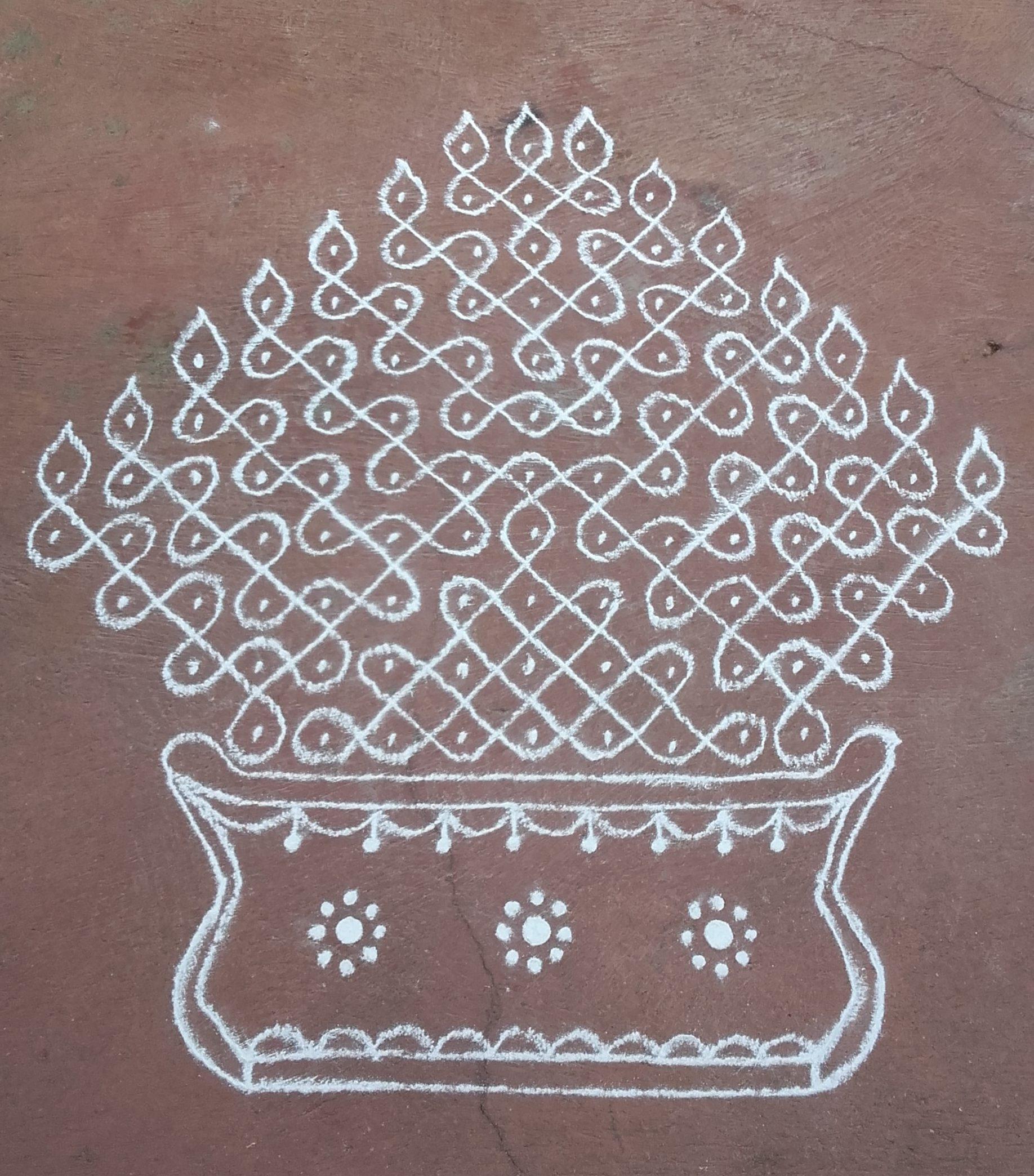Mariamman Kovil Kolam || Panguni pongal Kolam