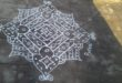 design kolam with 15 dots
