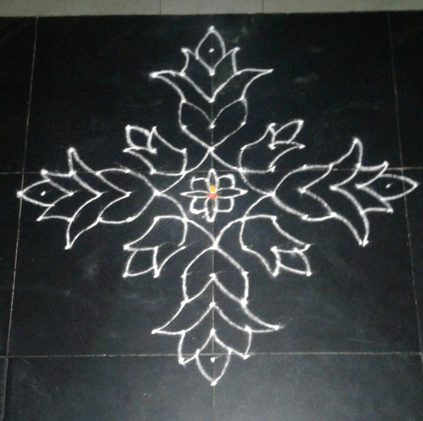 15 dots lotus kolam for contest