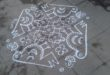 bird kolam with 15 dots