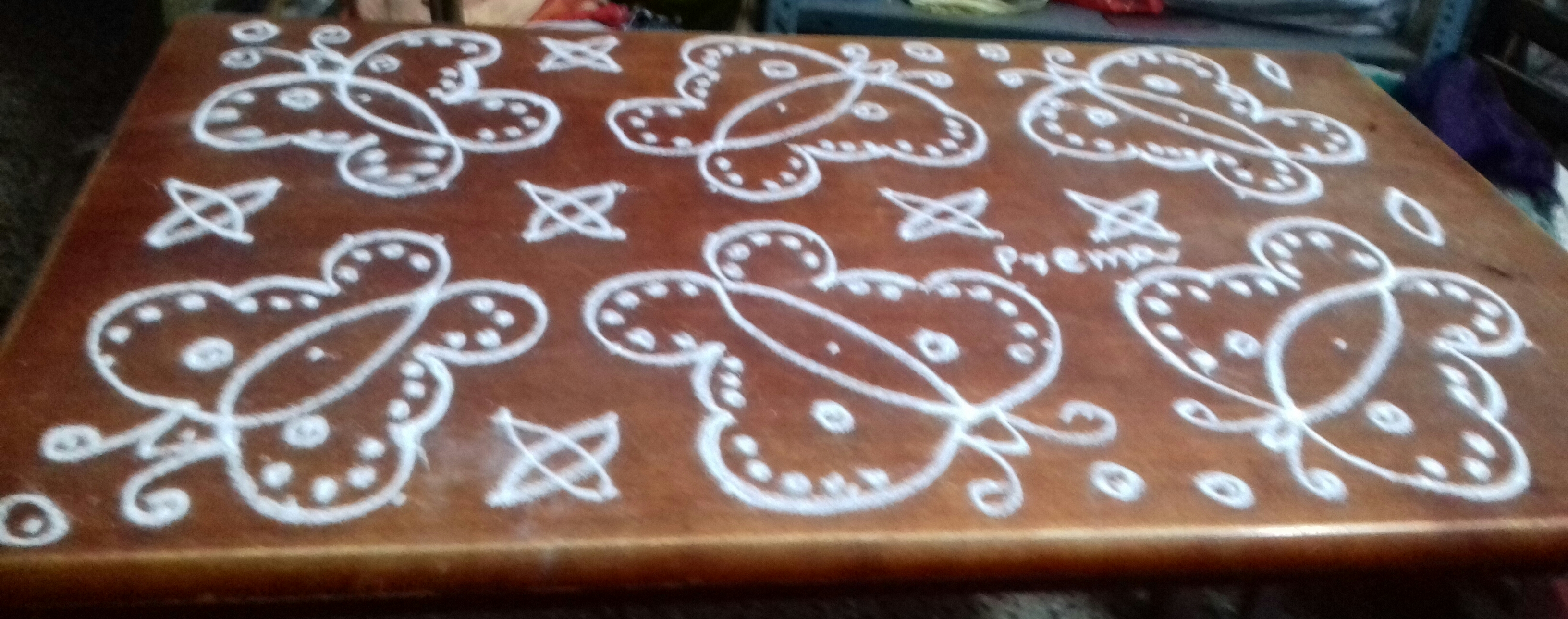 Butterfly kolam with 15 dots || Contest kolam