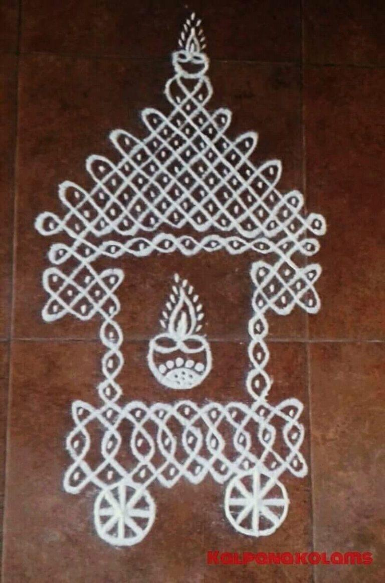 Chikku Ratha kolam || How to draw Ratha Kolam || Ratha Muggulu