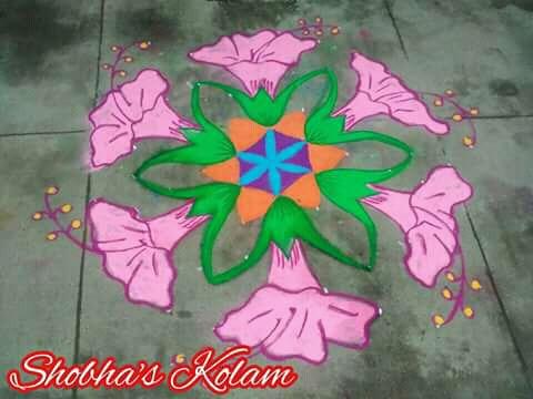 Hibiscus flower, chembarthi kolam