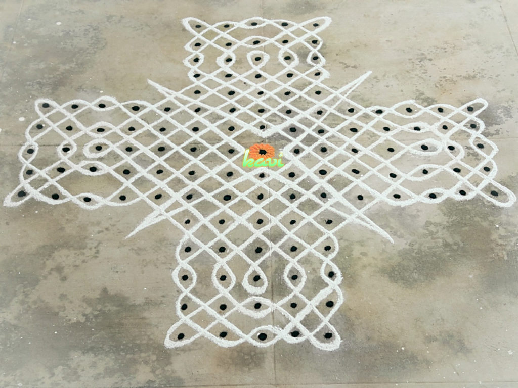 Sikku kolam in 15 dots