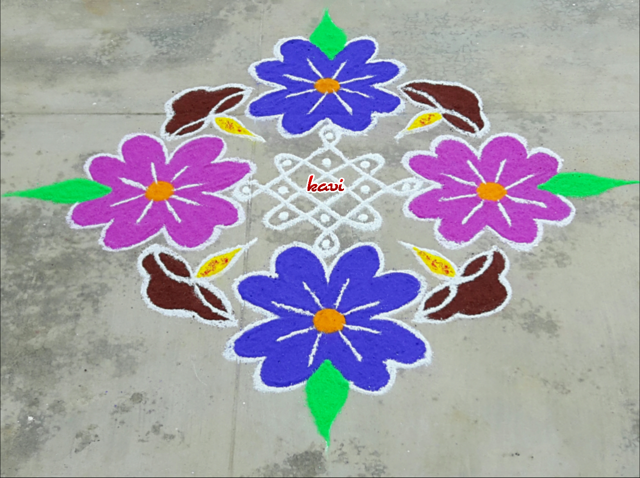 flower sikku kolam