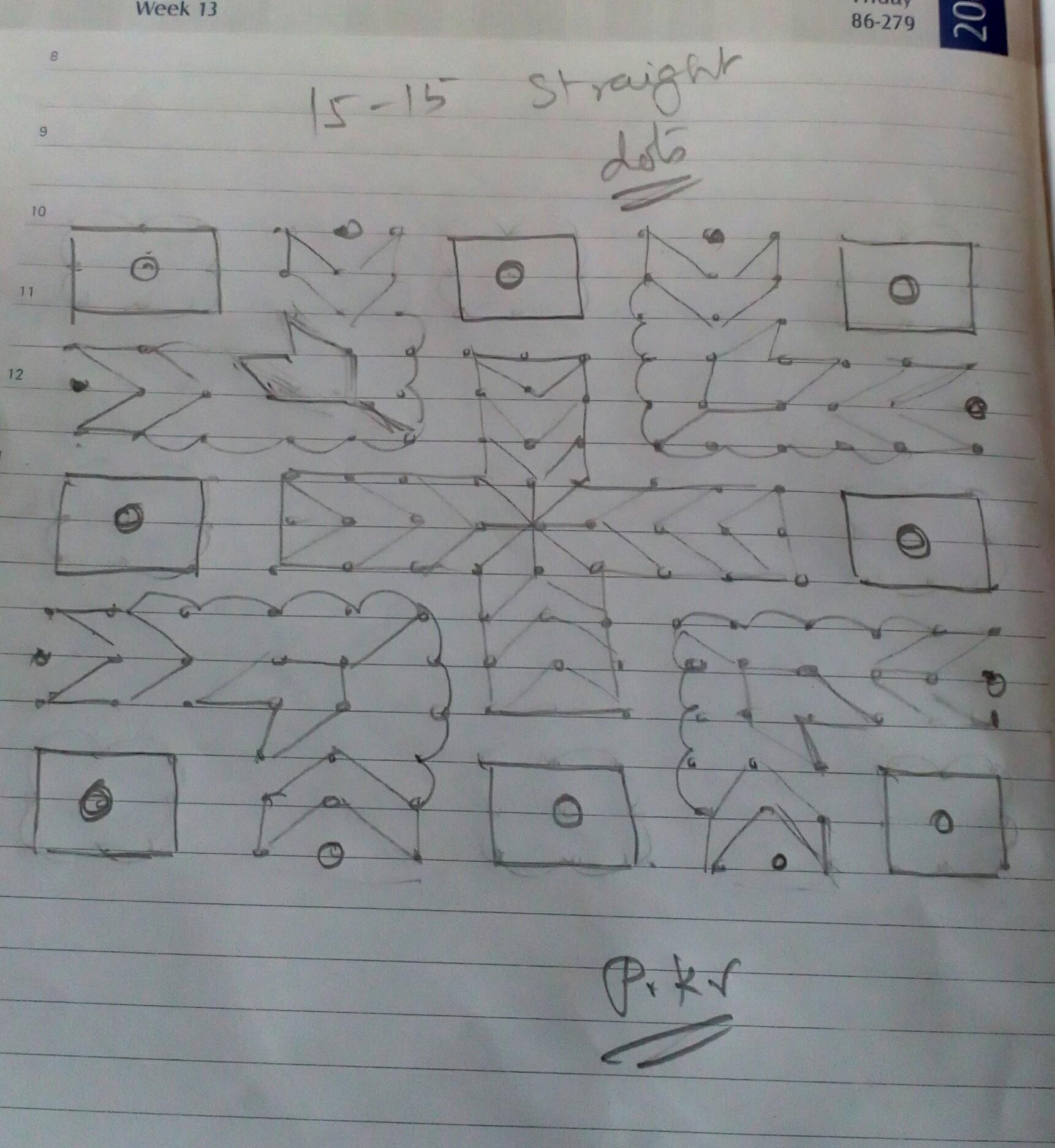 15 x 15 dots Kolam