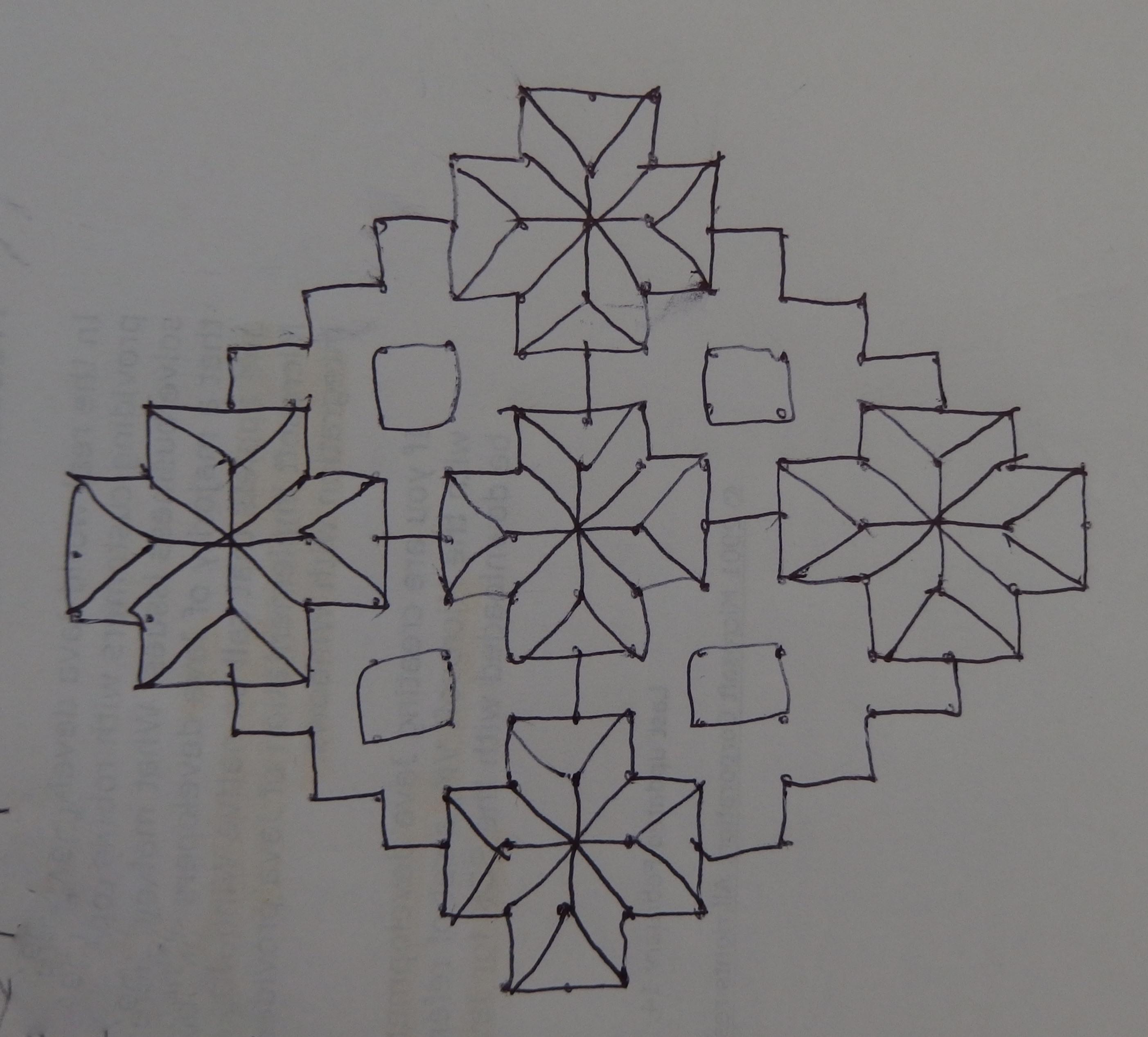 15 dots contest Kolam || simple muggulu