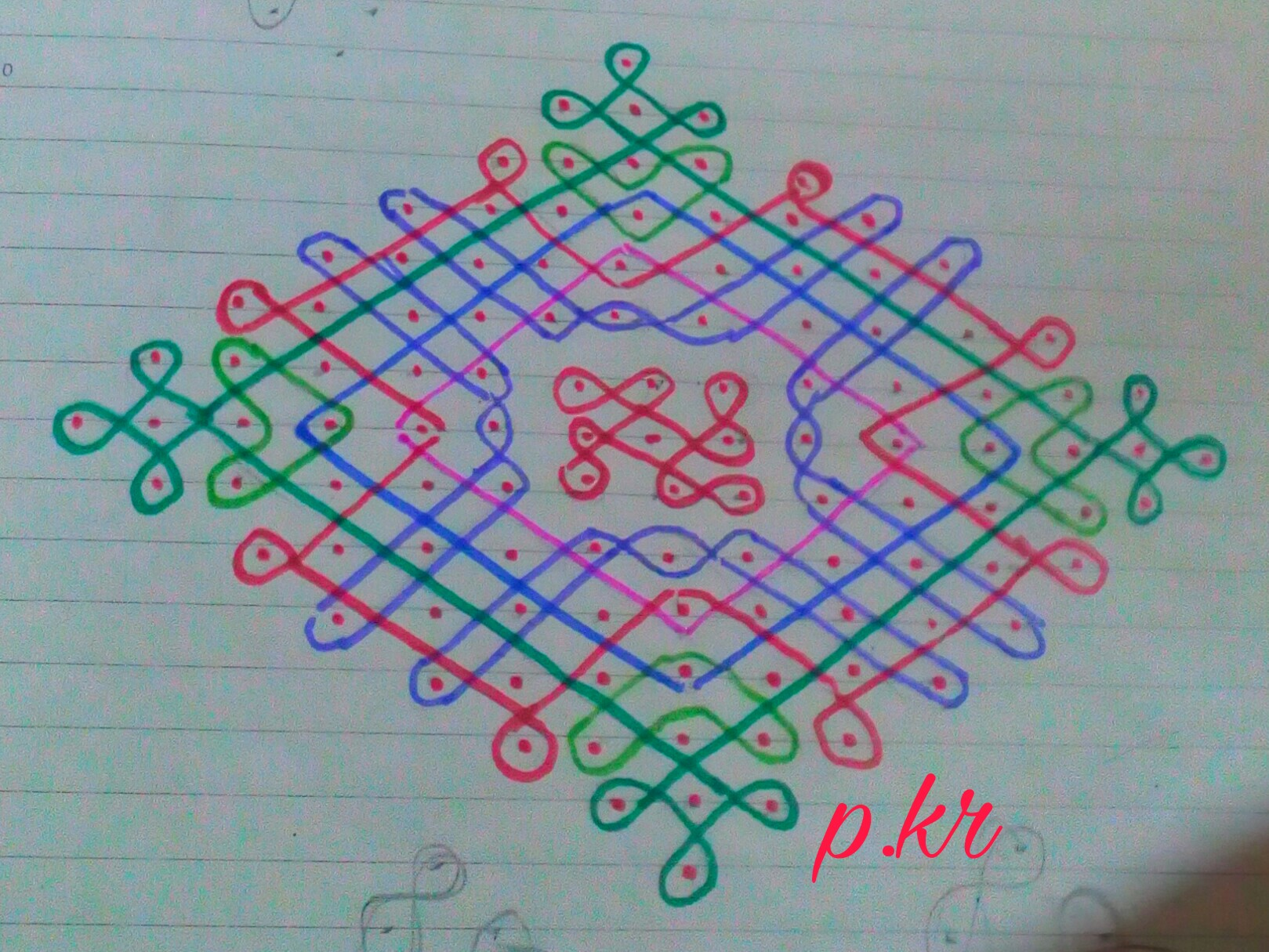 Kolam contest || Sikku kolam with 15 dots
