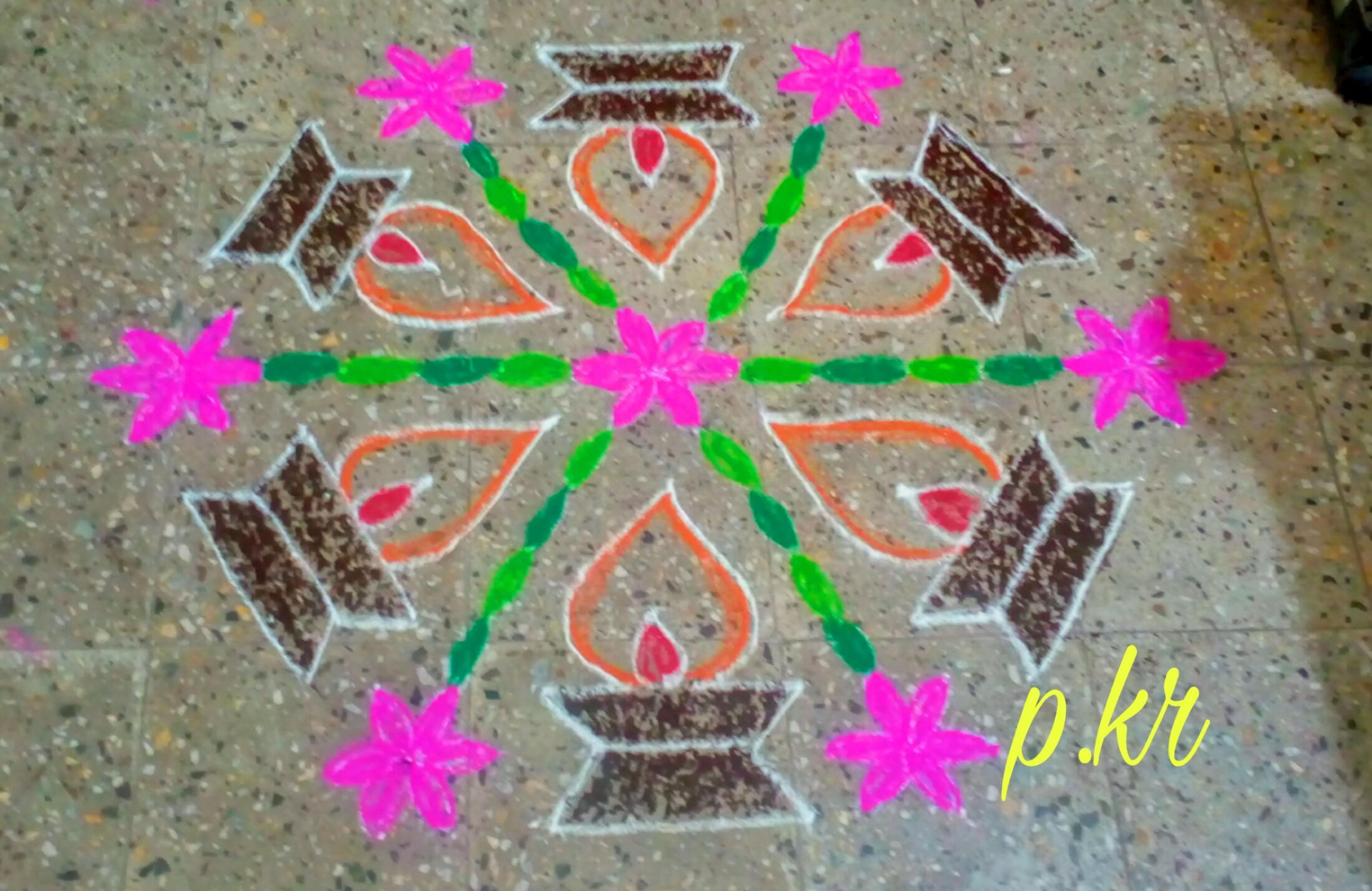 Kolam contest || Diya Rangoli || vilakku kolam