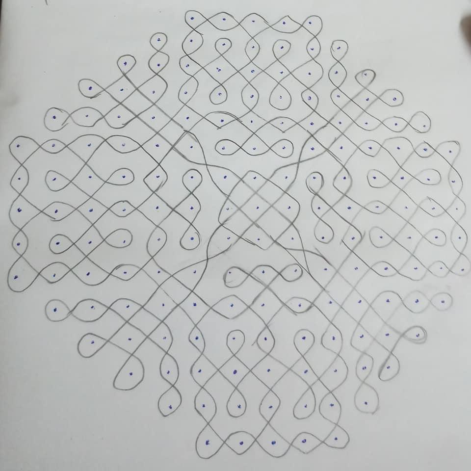 15 dots kolam