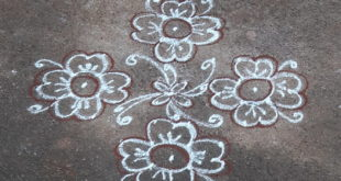 10 dots flower kolam