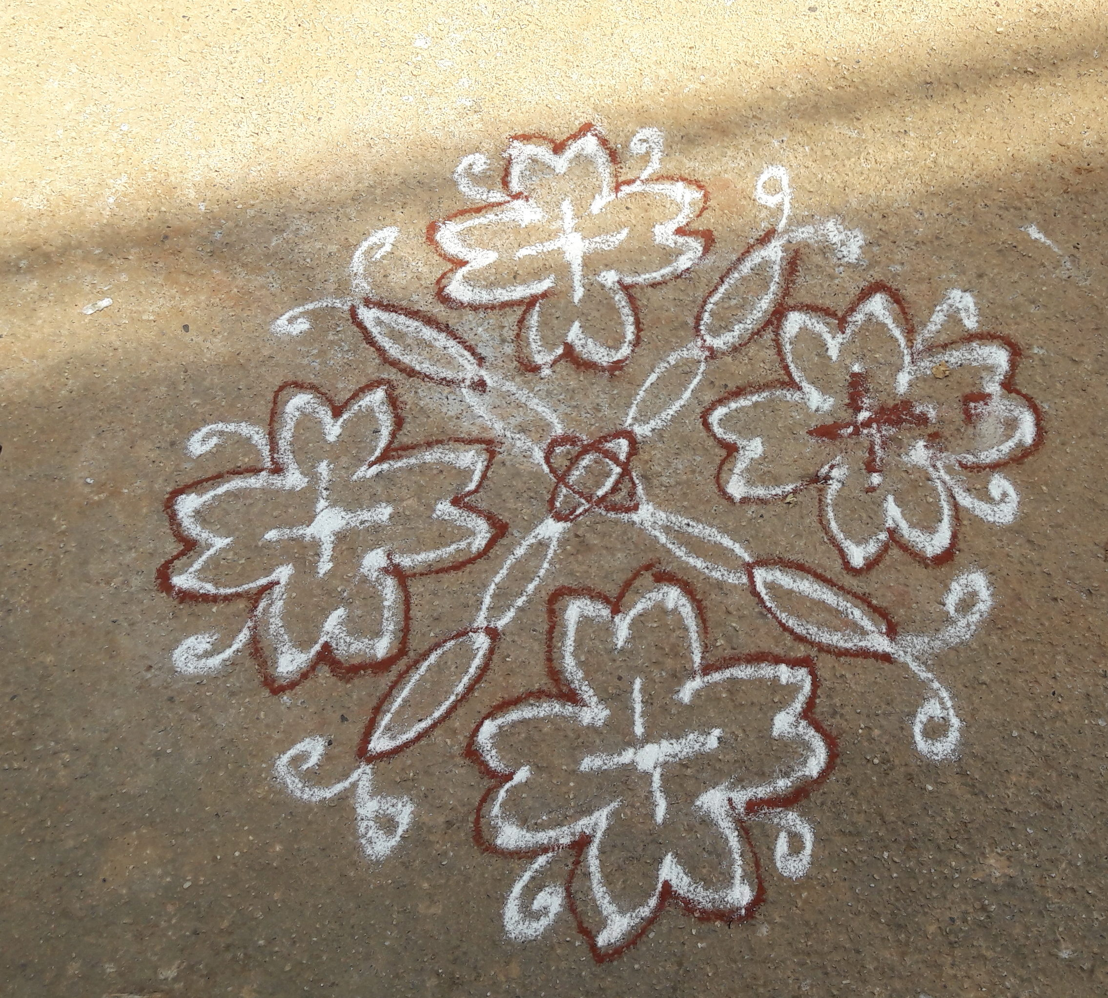 10 dots flower kolam
