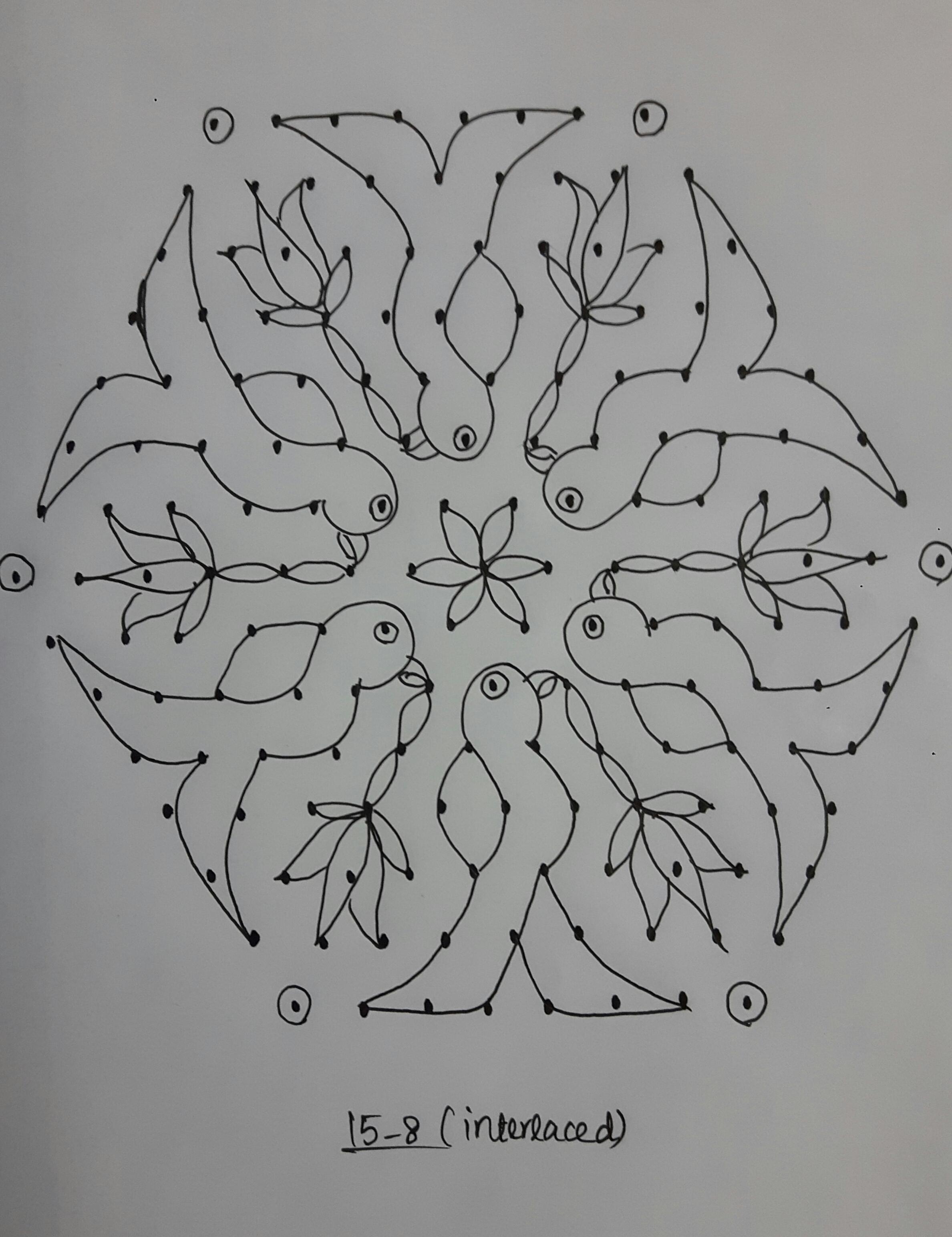 Parrot kolam in 15 dots || Contest Kolam