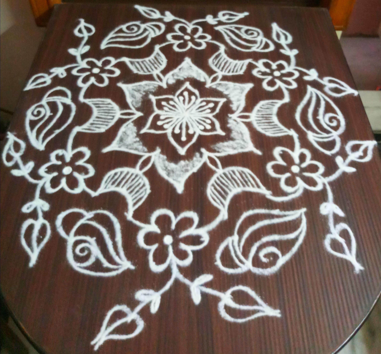 Flower and Sangu Kolam || 15 dots Contest Kolam