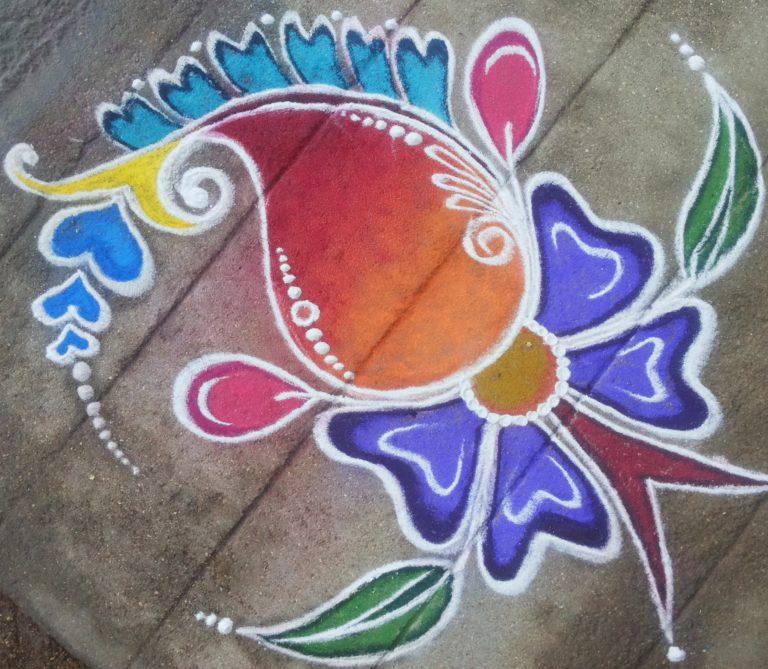 Paisley Kolam || Mango design Muggulu
