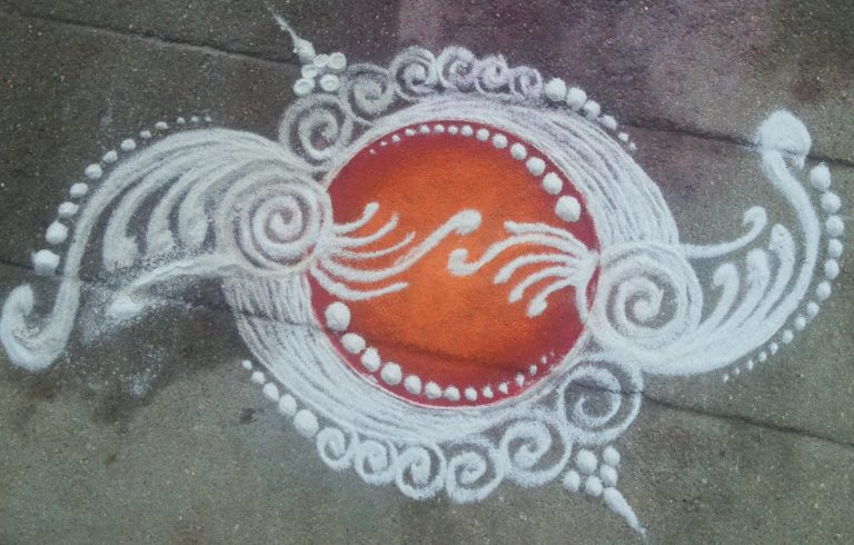 Colorful kolam || Simple Muggulu