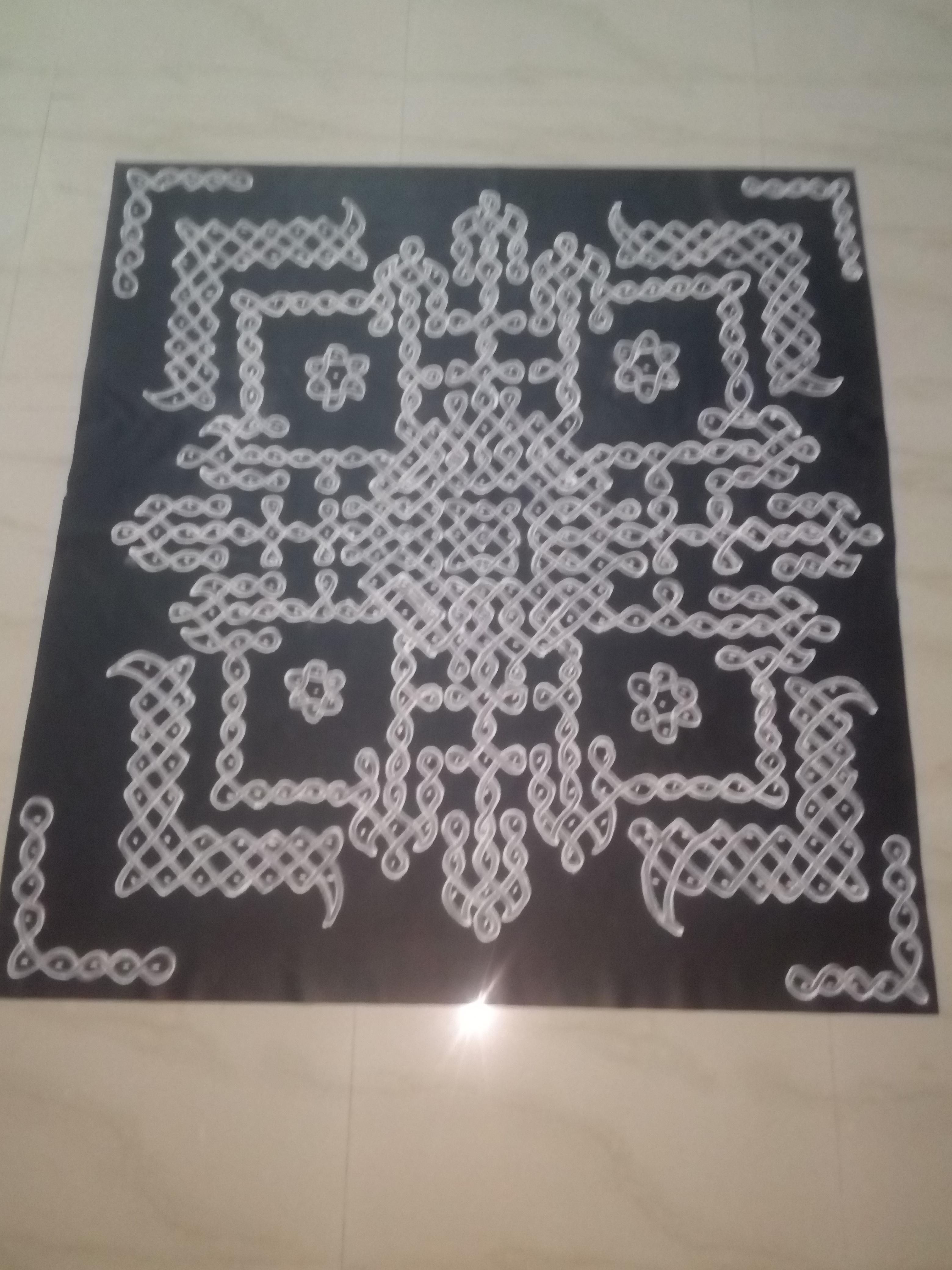 Pulli kolam || 7x7 dots Tippudu Muggulu