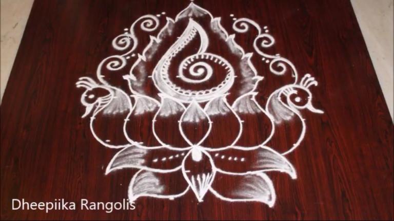 Simple and easy kolam with 9 dots || Mellika Lotus Muggulu || Purataasi Masa Kolam
