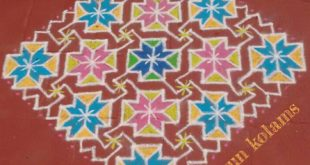Colourful kolam || 25 dots Contest Kolam