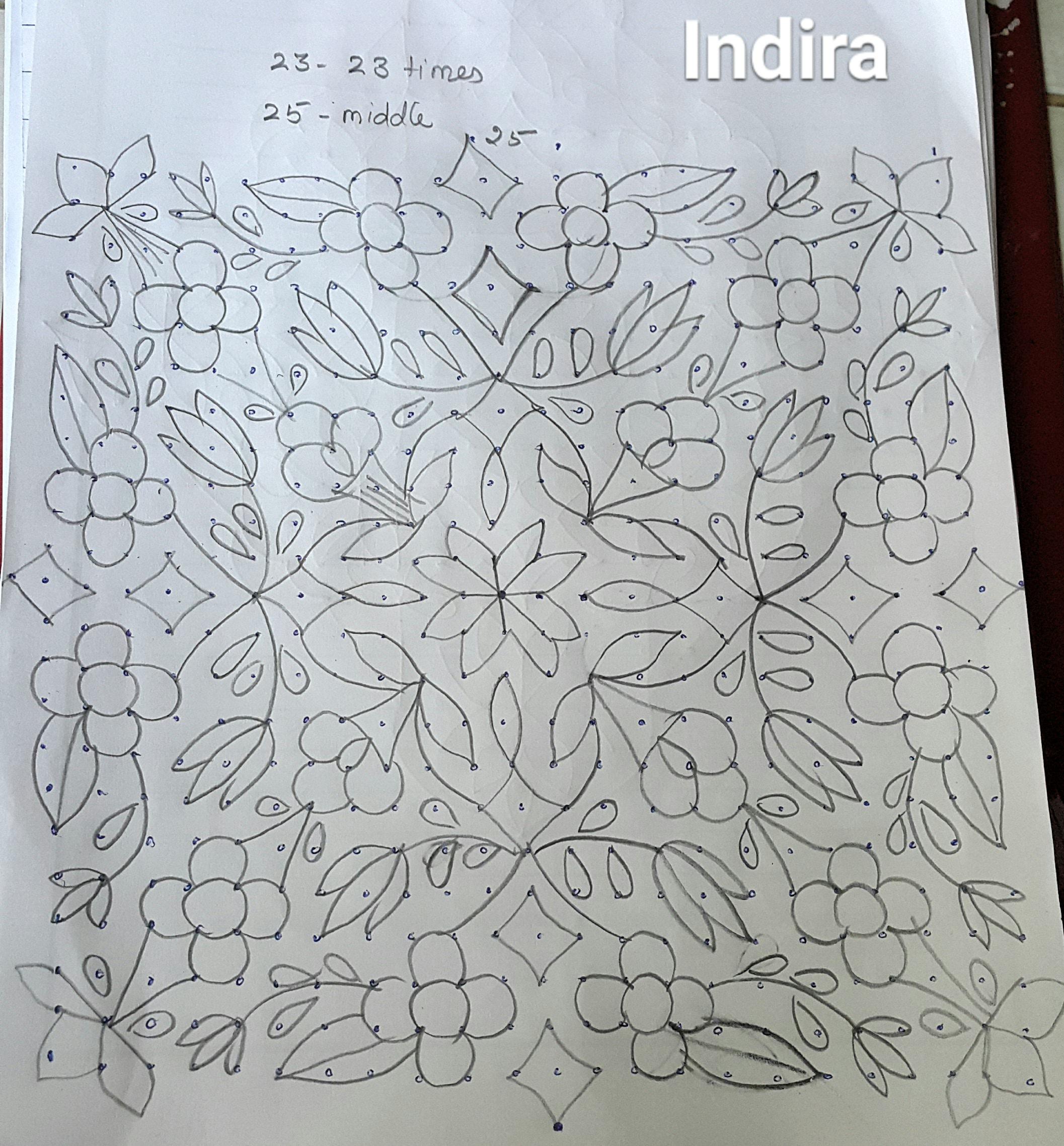 25 Dots Contest Kolam