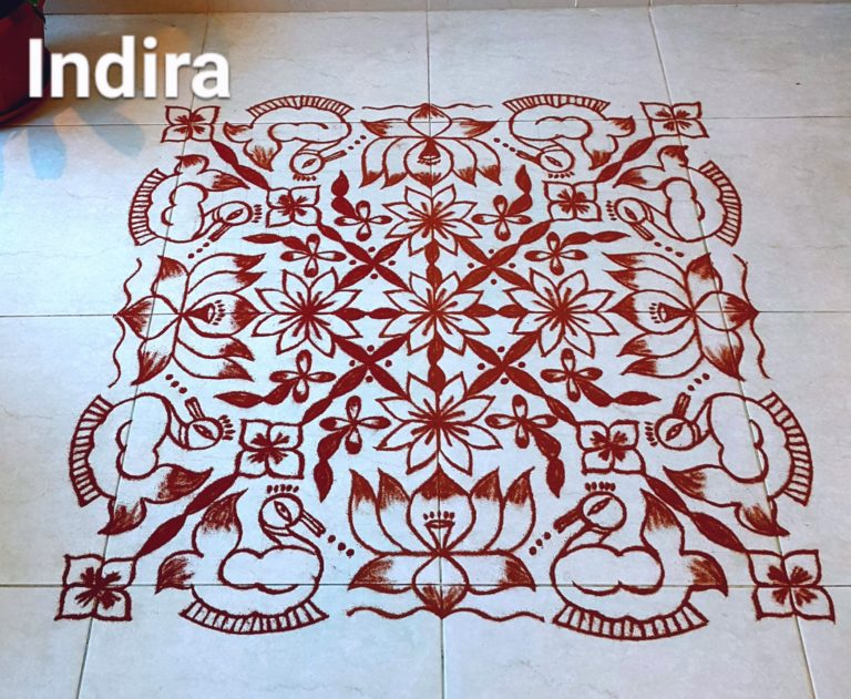 25 dots Swan kolam || Bird Kolam for Contest
