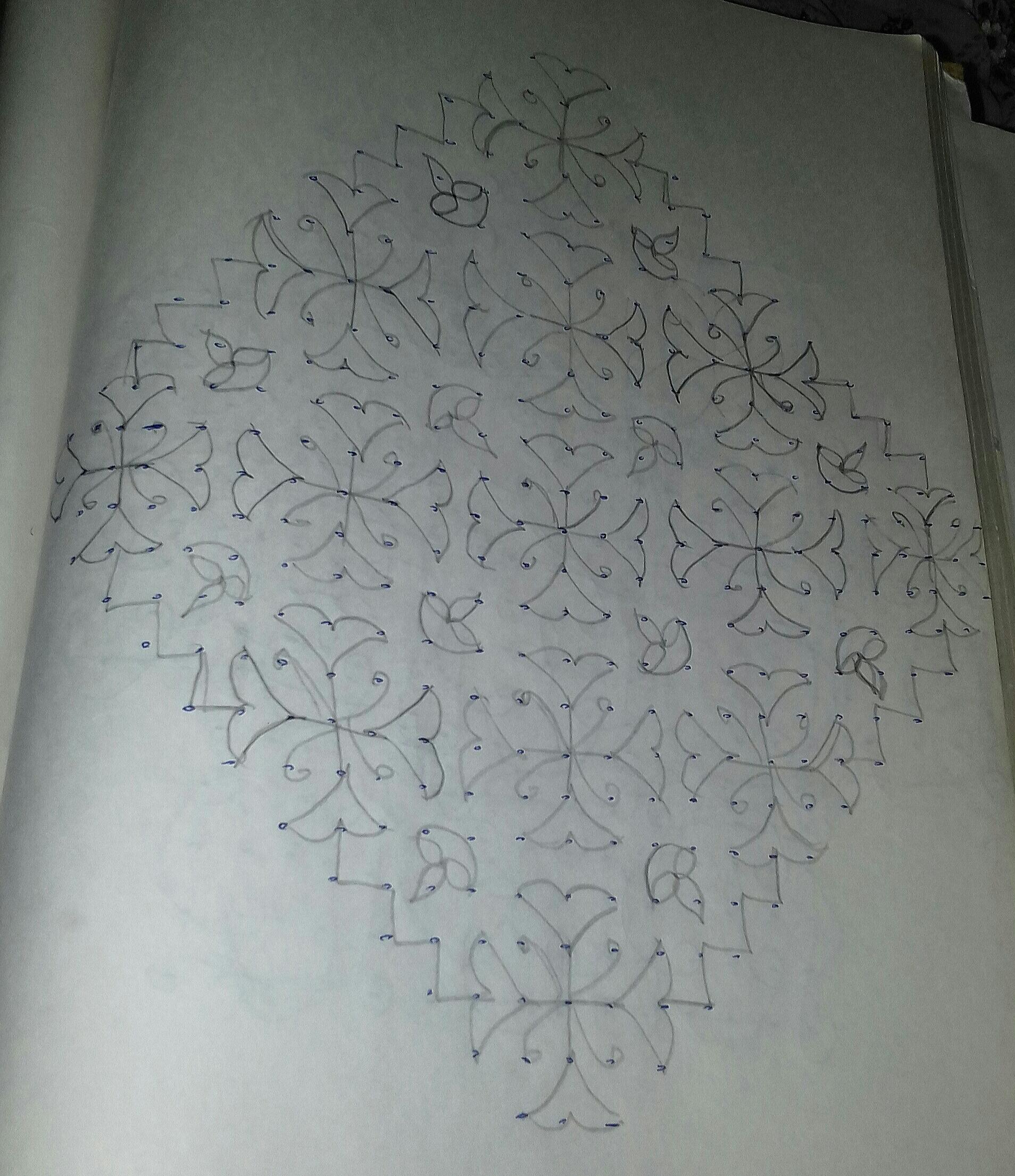 Line kolam with 25 dots    contest Kolam