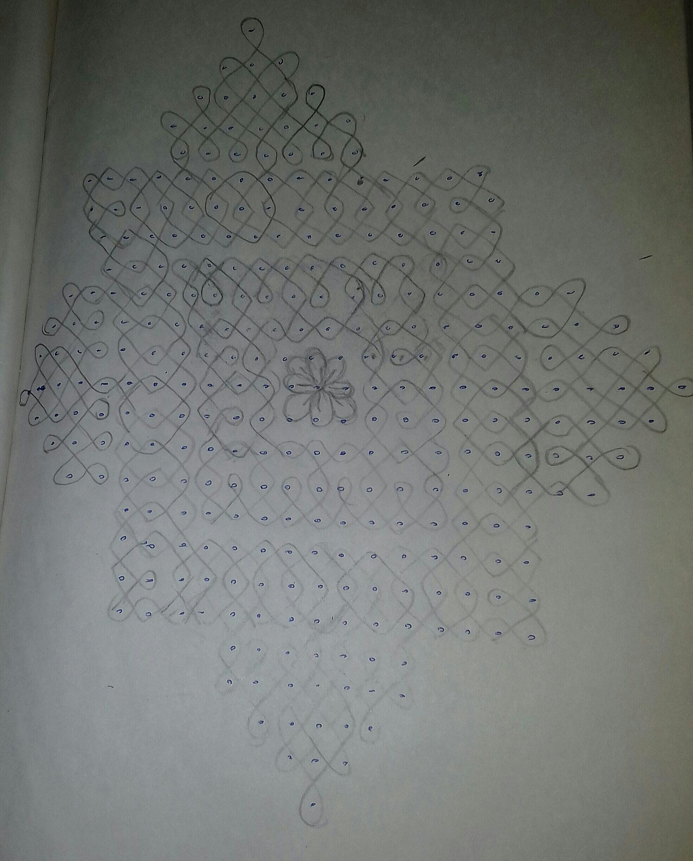 25 dots Sikku kolam    25 dots Neli Kolam for contest