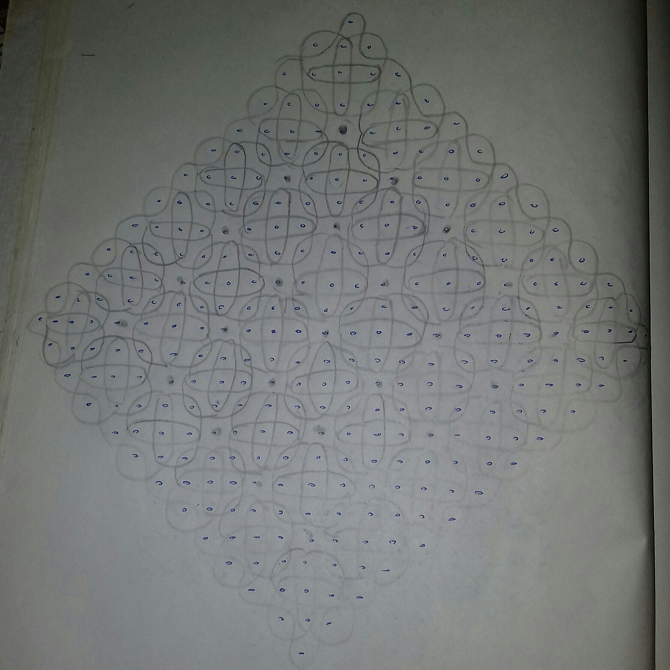 Sikku kolam with 25 dots || Big chikku Kolam for contest