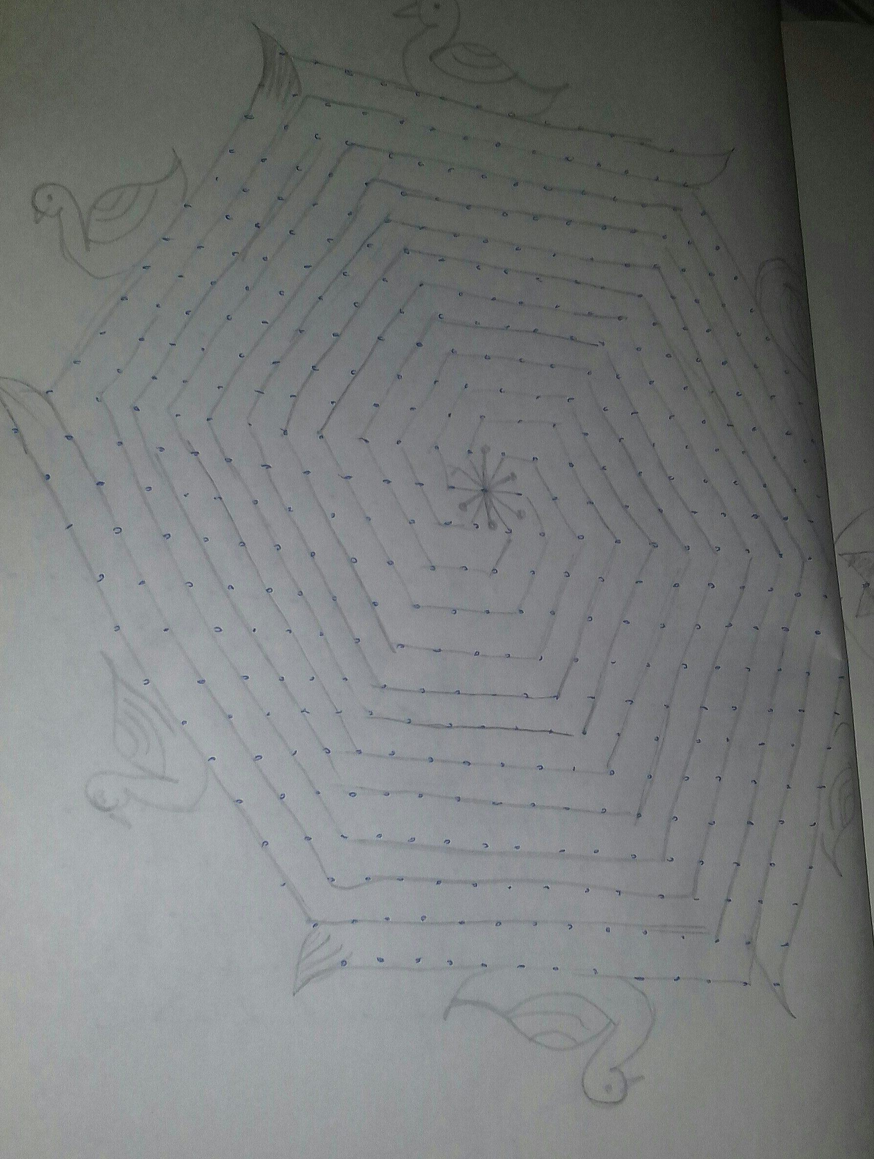 25 Dots Maze Kolam || contest kolam