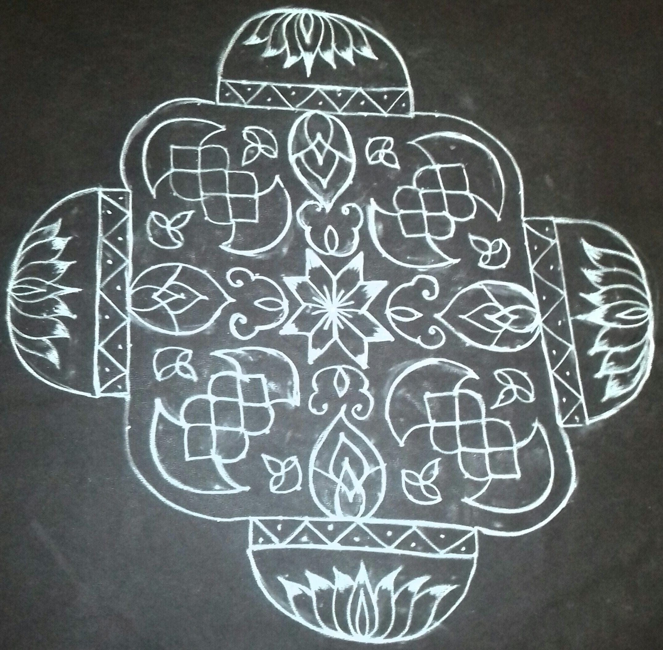 Line kolam with 25 dots || contest Kolam
