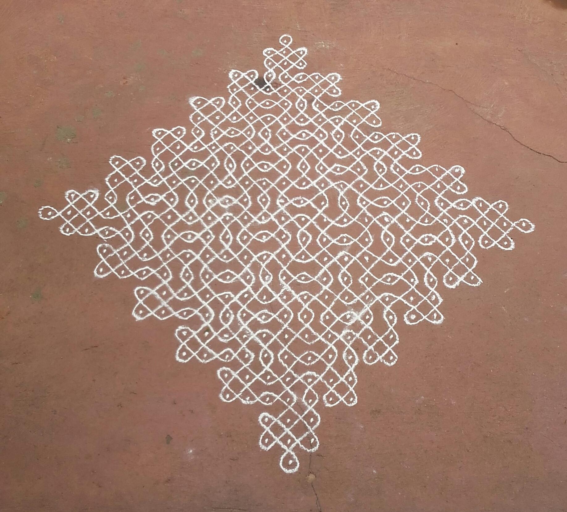 25 dots sikku kolam || Tippudu Muggulu