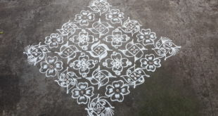 25 Dots Flower kolam || Big Kolam for Contest