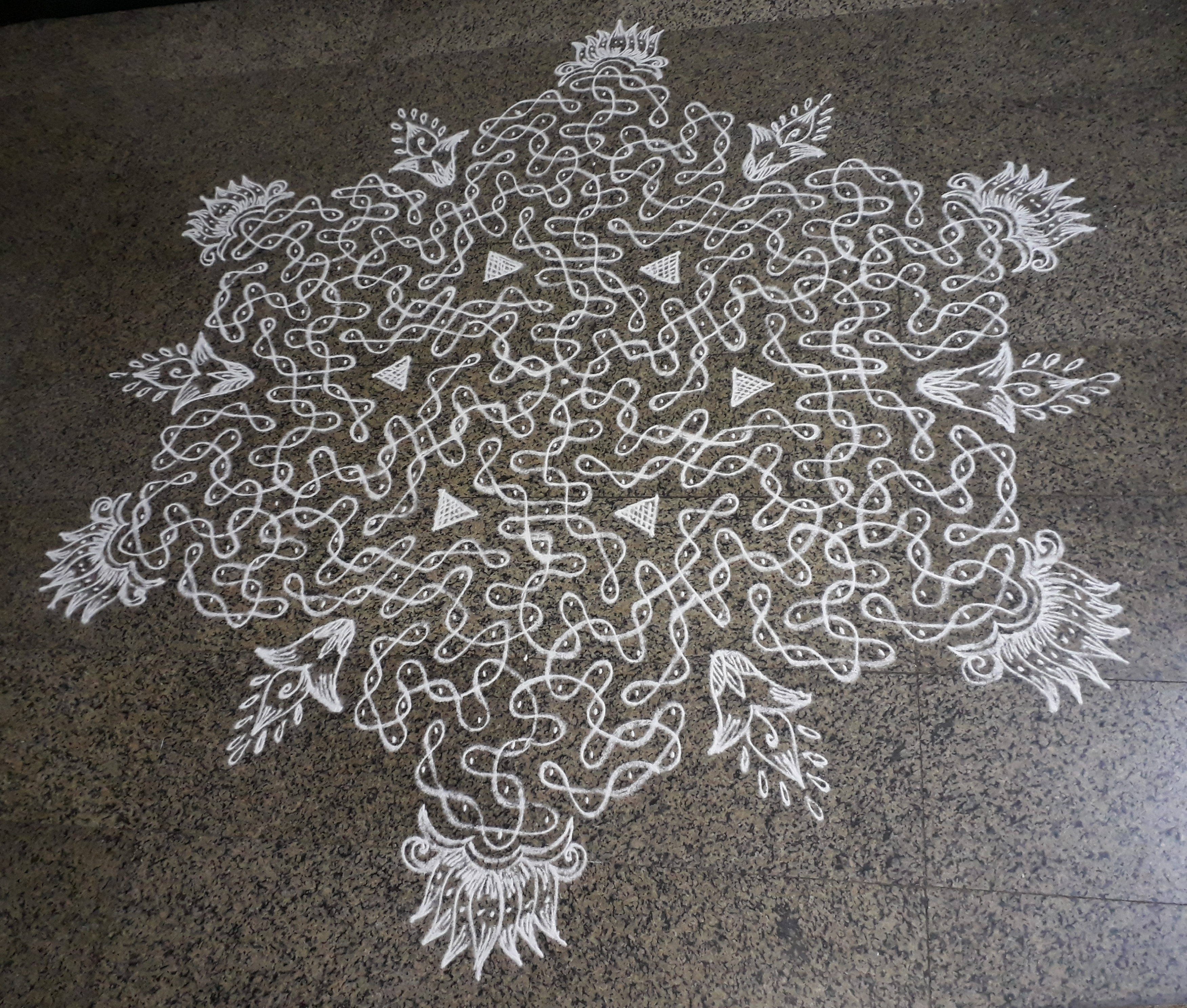 25 13 Dots Chikku Kolam Contest Kolams Of India