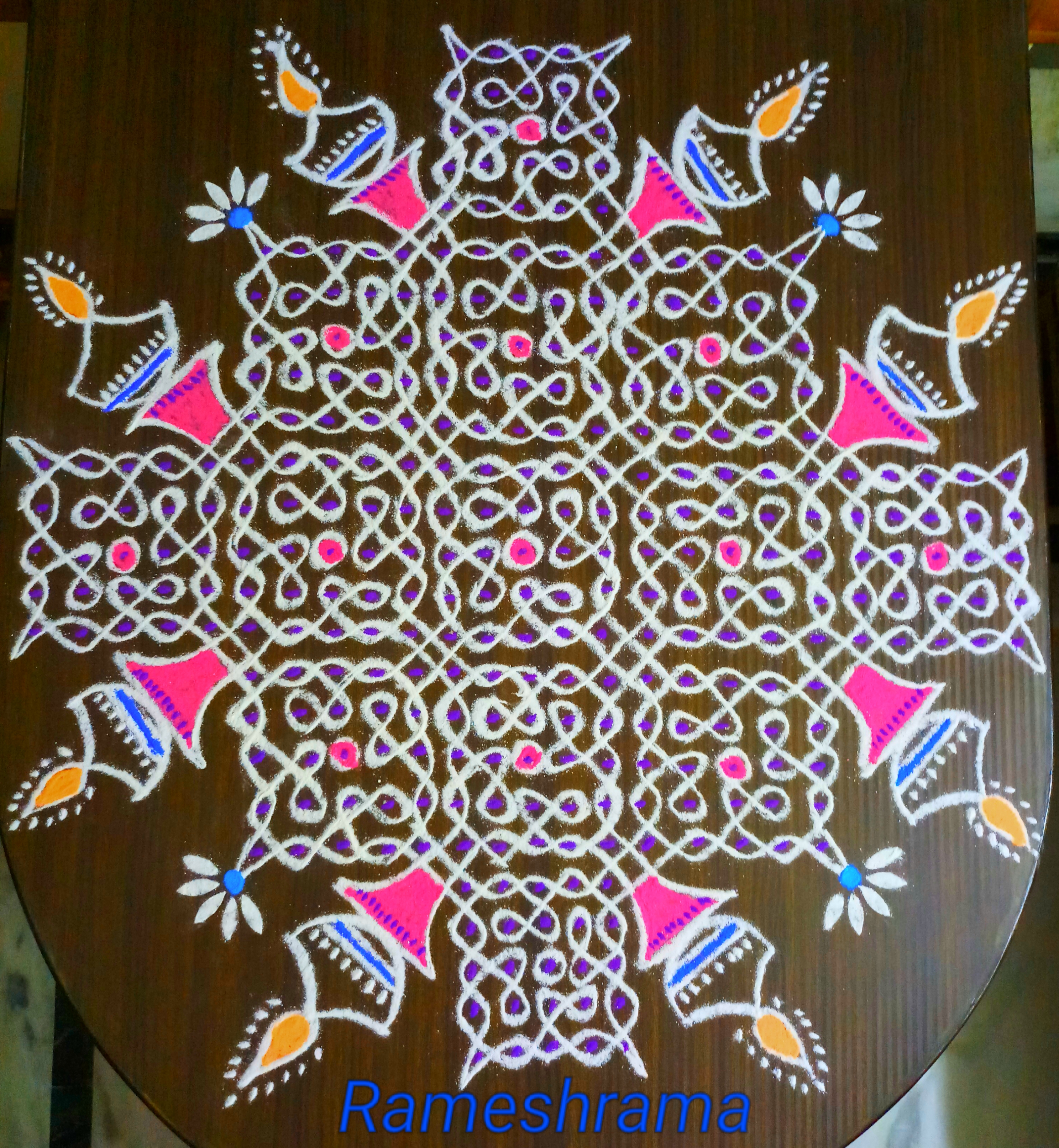 Sikku kolam with 25 dots || Big Kolam for Kolam ContestSikku kolam with 25 dots || Big Kolam for Kolam Contest