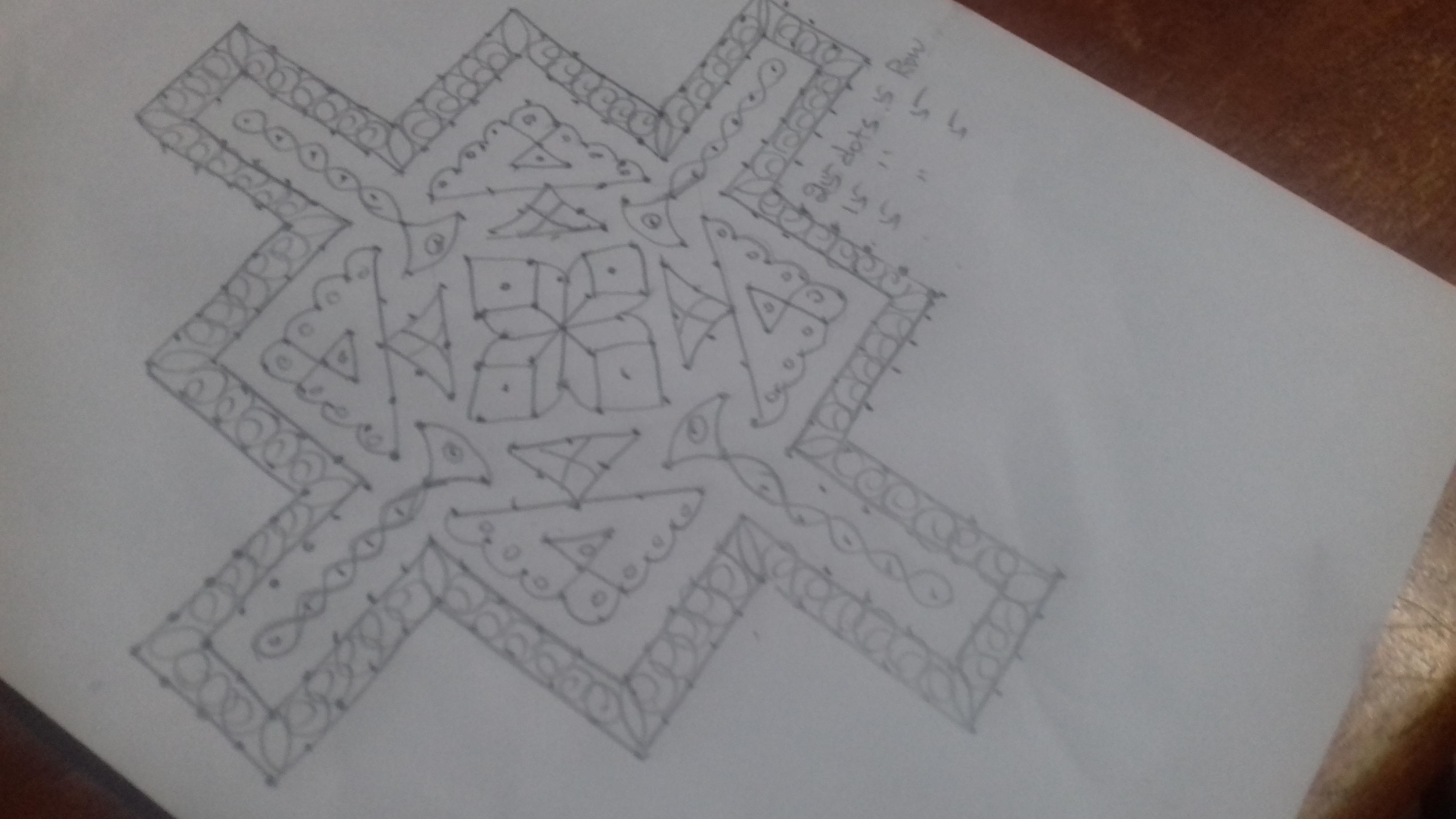 design kolam with 25 dots || 25 dots contest Kolam